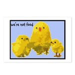 We're Not Food: Chickens Postcards (Package of 8)