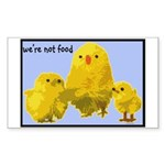 We're Not Food: Chickens Sticker (Rectangle)