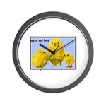 We're Not Food: Chickens Wall Clock