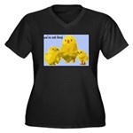 We're Not Food: Chickens Women's Plus Size V-Neck
