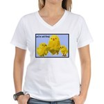 We're Not Food: Chickens Women's V-Neck T-Shirt
