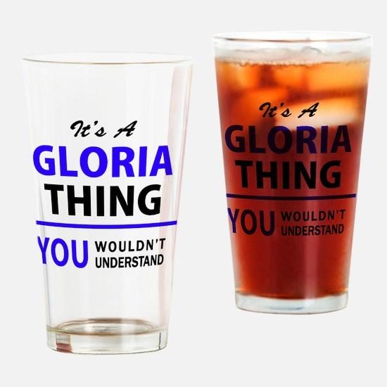 Funny Gloria Drinking Glass