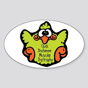 Duchenne Muscular Dystrophy Oval Sticker