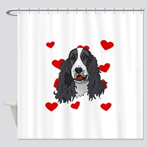 Springer Spaniel Love Shower Curtain