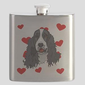 Springer Spaniel Love Flask