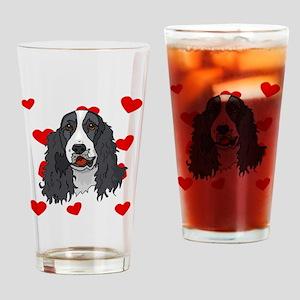 Springer Spaniel Love Drinking Glass