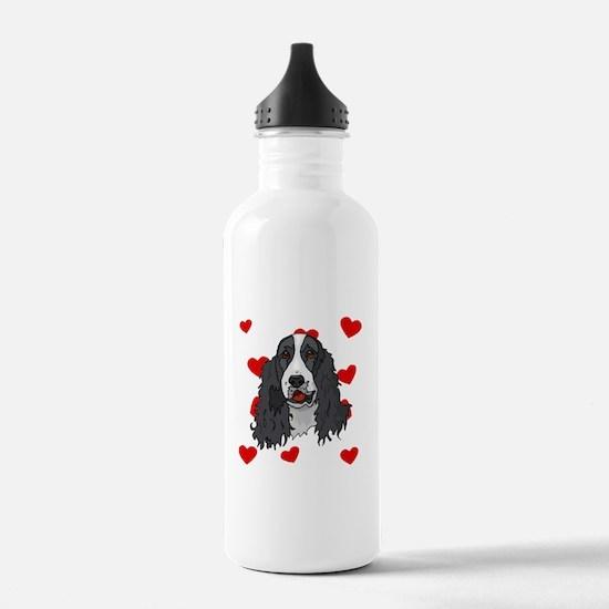 Springer Spaniel Love Water Bottle