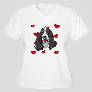 Springer Spaniel Love Plus Size T-Shirt