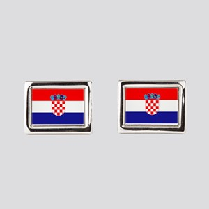 Croatian flag Rectangular Cufflinks
