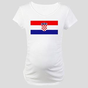 Croatian flag Maternity T-Shirt