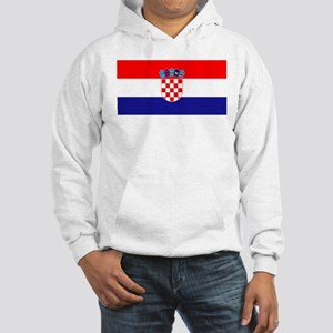 Croatian flag Hooded Sweatshirt