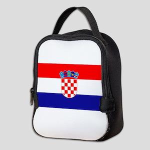 Croatian flag Neoprene Lunch Bag