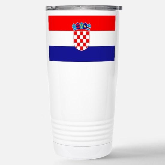 Croatian flag Stainless Steel Travel Mug