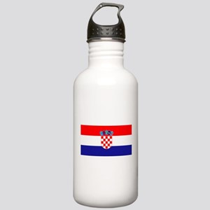 Croatian flag Stainless Water Bottle 1.0L