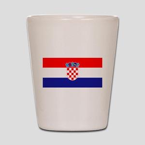 Croatian flag Shot Glass