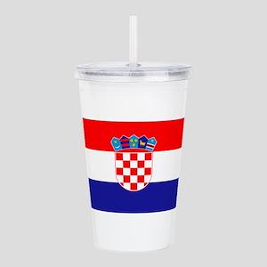 Croatian flag Acrylic Double-wall Tumbler