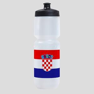 Croatian flag Sports Bottle