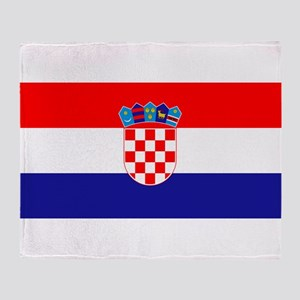 Croatian flag Throw Blanket