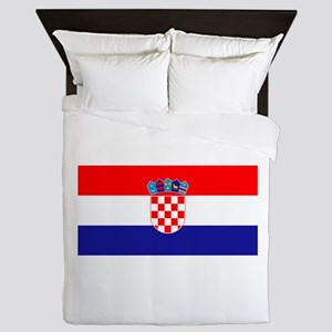 Croatian flag Queen Duvet