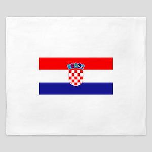 Croatian flag King Duvet