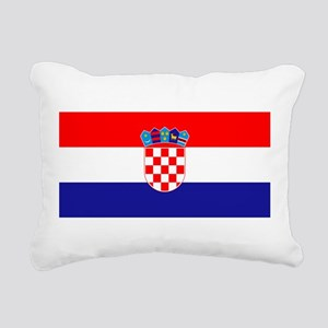 Croatian flag Rectangular Canvas Pillow
