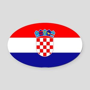 Croatian flag Oval Car Magnet