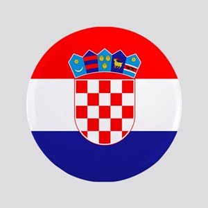 "Croatian flag 3.5"" Button"