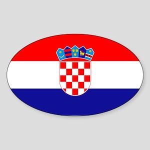 Croatian flag Sticker (Oval)