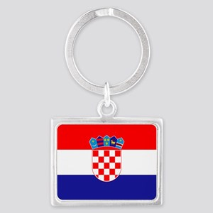 Croatian flag Landscape Keychain