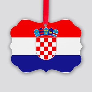 Croatian flag Picture Ornament
