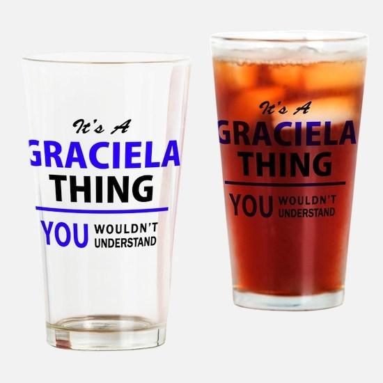 Funny Graciela Drinking Glass