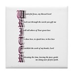 Writer's Prayer Tile Coaster