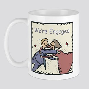 We're Engaged Mug