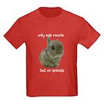 Only Bad People Test on Animals Kids Dark T-Shirt