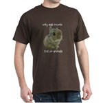 Only Bad People Test on Animals Dark T-Shirt