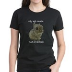 Only Bad People Test on Animals Women's Dark T-Shi
