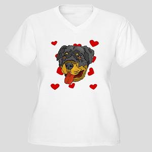 Rottweiler Love Plus Size T-Shirt