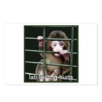 Lab Testing Hurts Postcards (Package of 8)