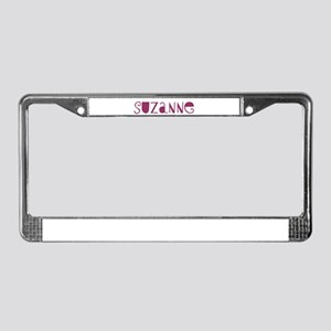 Suzanne License Plate Frame