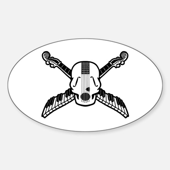 Pirate Parlor Trio Oval Decal