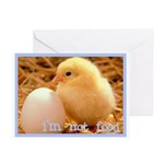 I'm Not Food Greeting Cards (Pk of 10)