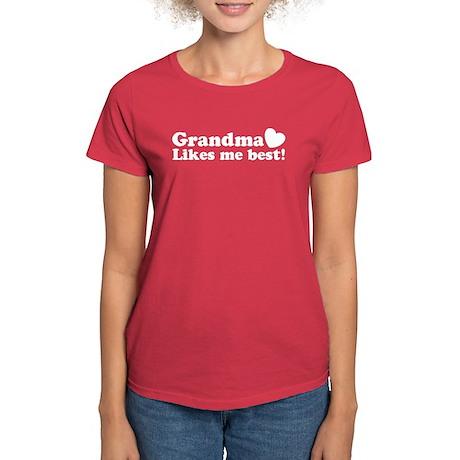 Grandma Likes Me Best Women's Dark T-Shirt