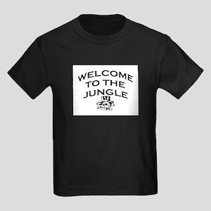 WELCOME TO THE JUNGLE Kids Dark T-Shirt