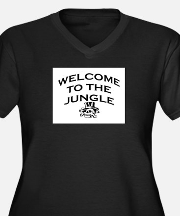 WELCOME TO THE JUNGLE Women's Plus Size V-Neck Dar