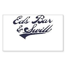Ed's Bar & Swill Rectangle Sticker