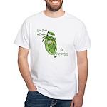 Give Peas a Chance White T-Shirt
