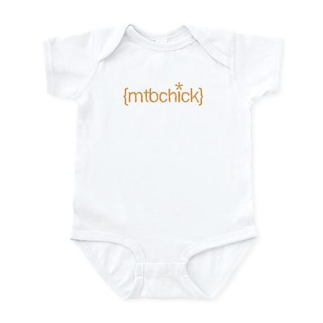 {mtbchick}:: tangerine Infant Bodysuit