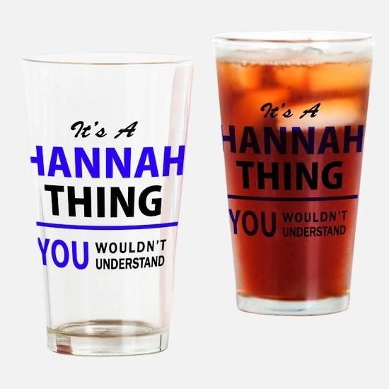Cute Hannah Drinking Glass