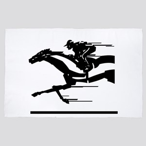 Horse racing 4' x 6' Rug