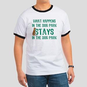 Stays In The Dog Park Ringer T